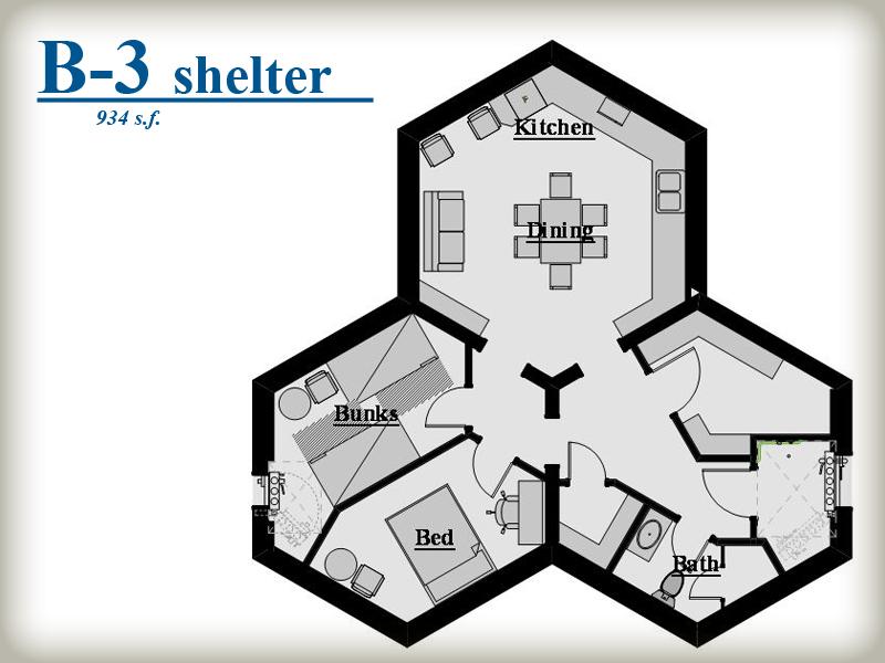 The Design on Survival Shelter Floor Plans